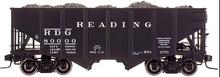 Atlas O Reading   2 Bay Fishbelly Hopper (no herald), 3 rail pr 2 rail