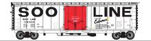 Atlas O SOO 50' plug door box car, 3 rail or 2 rail
