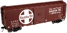 Atlas O (trainman) Santa Fe  40' Steel Box car, 3 rail or 2 rail