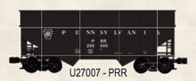 Weaver PRR (black) 34' woodchip hopper car, 3 rail or 2 rail