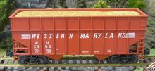 Weaver WM 34' woodchip hopper car, 3 rail or 2 rail
