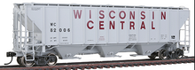 Weaver Wisconsin Central 50' PS-2CD covered hopper, 2 or 3 rail