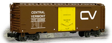 Weaver Central Vermont  40' PS-1 plug door box car, 3 rail or 2 rail