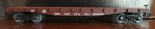 Weaver PRR (tuscan) 40' flat car, 3 rail or 2 rail