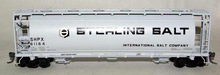 Atlas O Sterling Salt  Cylindrical Covered  Hopper, 3 rail or 2 rail