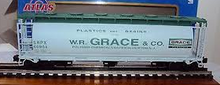 Atlas O WR Grace Cylindrical Cov Hopper, 3 rail  or 2 rail