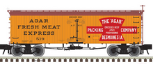 Pre-order for Atlas O Agar Packing  36' Wood Reefer, 3 rail or 2 rail