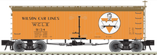 Atlas O Wilson Car lines  36' Wood Reefer (man with W logo)