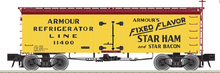 Atlas O Armour Star Ham and Bacon  36' Wood Reefer