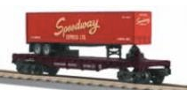 MTH Railking  Flat Car with FEC Trailer, 3 rail
