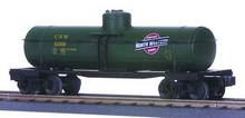 MTH Railking  CNW green 8000 gallon Tank Car, 3 rail