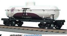 MTH Railking  PRR tuscan/white 8000 gallon Tank Car, 3 rail