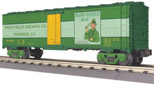 MTH Rail King Irish Green Ale Modern Reefer, 3 rail