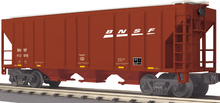 MTH Railking BNSF 3 bay  covered hopper car 3 rail