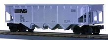 MTH Railking NS 4 bay  hopper car, 3 rail