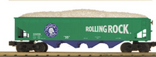 MTH Railking Rolling Rock Beer 4 bay  hopper car, 3 rail
