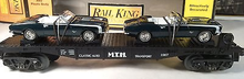 MTH Railking Flat Car with 67 Camaro's, 3 rail