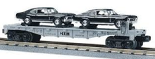 MTH Railking Flat Car with 70 Nova's, 3 rail