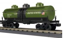 MTH Railking US Army (drab green) 3 dome Tank Car, 3 rail