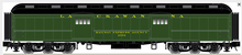 Atlas O 60' Lackawanna (green)  Baggage Car, 3 rail or 2 rail