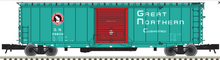 Atlas O GN (green) 50' PS-1 single door modernized box car, 3 rail