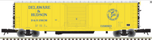 Atlas O D&H (yellow scheme)  50' modernized PS-1 single  door box car, 3 rail or 2 rail
