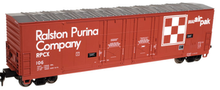 Atlas O Ralston Purina 53' double plug door box car, 3 rail or 2 rail