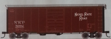 Atlas O NKP 40' steel box  car, 1940's-1960's, 8' door