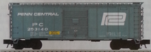 Atlas O Penn Central 40' steel box  car, 1950's-70's, 8' door