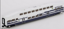 "K-line Metrolink (Los Angeles) 21"" Aluminum Bombardier 4 car commuter passenger car  set, 3 rail"