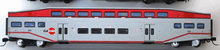 "K-line Caltrain  (SFO bay area) 18"" Aluminum Bombardier 4 car commuter passenger car  set, 3 rail"