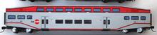 "K-line Caltrain  (SFO bay area) 18"" Aluminum Bombardier 4 car commuter passenger car  set, 3 rail"