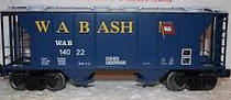 Weaver Wabash 34' PS-2 covered hopper, 2 rail or 3 rail