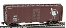 Weaver  CNJ  40' 1920's-60's  ARA box car, 3 rail or 2 rail