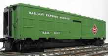 Weaver  O REA Bright green Baggage/express converted troop car