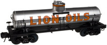 Atlas O Lion Oils 8000 gal tank car, 3 or 2 rail