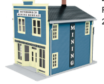 MTH 30-90275 O gauge Patterson & Co. Mining Bureau 2 Story Store Front Building