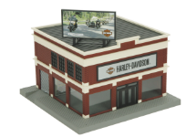 MTH 30-90111 O gauge Harley-Davidson Motorcycle Dealership No. 1 Commercial Building