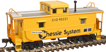 Atlas O Chessie Magor Steel Caboose, 3 rail