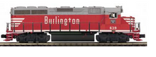 MTH Premier Burlington (CB&Q) GP-40  diesel, 3 rail, P3.0