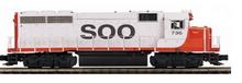 MTH Premier SOO LINE GP-40  diesel, 3 rail, w/Sound and smoke. proto 3.0