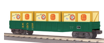 MTH Railking KCS gondola with crates, 3 rail