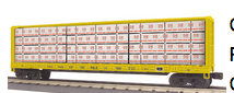 MTH Rail King Alaska RR Center I-Beam Flat Car, 3 rail