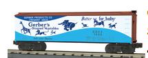 MTH Rail King Gerbers woodside Reefer, 3 rail