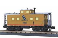 MTH Premier C&O (yellow) Center Cupola NE style Caboose, 3 rail