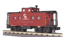 MTH Railking scale C&O (red) Center Cupola Northeastern style Caboose, 3 rail