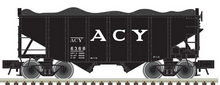 Atlas O ACY  2 Bay Fishbelly Hopper, 3 rail or 2 rail