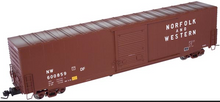 Atlas O N&W (tuscan) 60' auto parts  box car,  3 rail or 2 rail