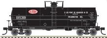 Atlas O  Dupont (black)  Chemical 11,000 gallon tank car, 3 rail or 2 rail