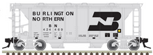 Atlas O BN ACF 34' AC-2 Covered Hopper car, 3 rail or 2 rail